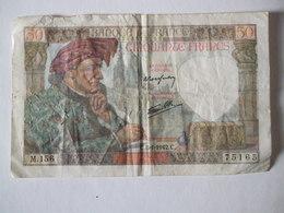 BILLET DE 50F  08 JANVIER 1942 SERIE M N° 156 - 1871-1952 Anciens Francs Circulés Au XXème