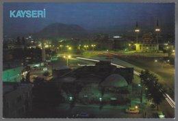 CP 38-16-Türkiye, KAYSERI, Gece Gorunum-vue De Nuit, Mosquée - Turchia