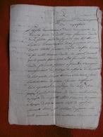 MANUSCRIT MARQUISAT DE ROQUEFEUIL 1787 FRANCOIS DAUDE DE LA VALETTE - Documents Historiques