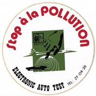 Autocollant - Stop à La Pollution - ELECTRONIC AUTO TEST - Diamètre : 10 Cm - - Stickers