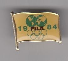 Pin Badge Olympic Games Los Angeles 1984 84 FILA International Wrestling Association Federation Luttes - Lotta