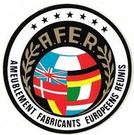 Autocollant - A.F.E.R  - Ameublement Fabricants Européens Réunis - Diamètre : 10 Cm - - Stickers