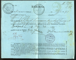 AUSTRIA 1897. Neulengbach, Old Post Document To Hungary - Austria