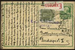 AUSTRIA 1916. Bukovina, Suczawa .Express Uprated,censored Ps Card To Hungary - Österreich
