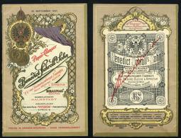 AUSTRIA WIEN 1907. Benedict Schroll Sohn , Dekoratív Litografált árjegyzék  /  AUSTRIA WIEN 1907 Benedict Schroll Sohn, - Vieux Papiers
