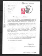 FRANCE Notice à Tirage Limité Marianne L'Engagée Réservée Aux Membres Du Club Philaposte FDC Y Et T 5253 - 2018-... Marianne L'Engagée