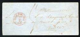 NETHERLANDS  1861. Stampless Cover Roermond - Niederlande