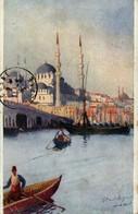 Lt De Vaisseau DOUILLARD - Constantinople - Le Pont De Galata Et La Mosquée Valide - Turchia