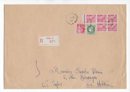 1939 - ENVELOPPE GF RECOMMANDEE De PARIS => LE HAVRE - MERCURE + PAIX + CERES - 1921-1960: Période Moderne