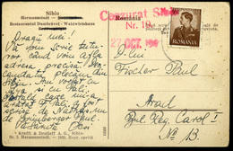 ROMANIA 1945. Censored Postcard , Sibiu - Roumanie