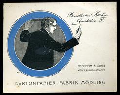 AUSTRIA Mödling Kartonpapier-Fabrik Vintage Advertising Card - Vieux Papiers
