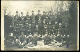 AUSTRIA BOSNIA DOBOJ 1910 Soldiers Rekrutenzug Kompagnie Photo Vintage Picture Postcard To Vienn - Austria