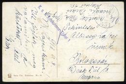 AUSTRIA LEVANT WW1 1917. Postcard With Feldpost FP 451 + Autokolonne Türkei Cancellations - Autriche
