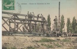 C P A - GÉNIE - ECOLE DE CHEMINS DE FER - B. F. - Regiments