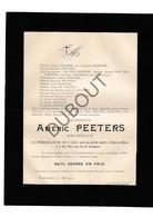 Doodsbrief Améric Peeters °1847 Willebroek †1902 Mont-sur-Meuse (Mont/Yvoir) / Brasseur / Brouwer (H7) - Décès
