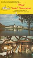 Folder 4 Postcards - Valcartier Québec - Mont Saint-Sacrement - École Secondaire Et Centre Plein Air - 3 Scans - Quebec