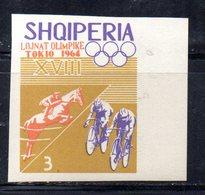 ETP152B - ALBANIA 1964 , Yvert N. 709 *** MNH NON DENTELLATO. IPPICA - Ippica