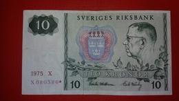 D-0302. SWEDEN 10 KRONOR 1975 REPLACEMENT - Suède