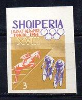 ETP152C - ALBANIA 1964 , Yvert N. 709 *** MNH NON DENTELLATO. CICLISMO - Ciclismo