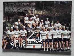 Equipe Cyclisme PEUGEOT MICHELIN 1983 - Cyclisme