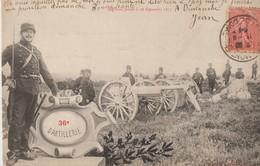 C P A - 36° D'ARTILLERIE - REGIMENT FORME LE 28 SEPTEMBRE 1873 - - Regiments