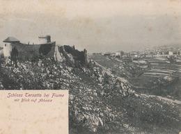 Schloss Tersatto Bei Fiume Mit Blick Abbazia 1904 (LOT AE 26) - Roumanie