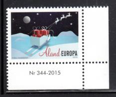 Aland 2015 MNH Christmas Sleigh, Gifts, Reindeer - Numbered Margin Copy - Aland