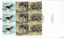 Aland 2015 MNH Booklet Pane Of 9 3 Different Dogs - Aland