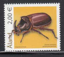 Aland 2006 MNH Scott #244 2E Oryctes Nasicornis Insects - Aland
