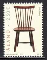 Aland 2016 MNH 2.50E Chair - Aland