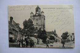 CPA 80 SOMME SAINT RIQUIER. Le Beffroi Et L Hospice. - Saint Riquier
