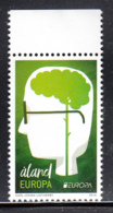 Aland 2016 MNH Head Showing Green Brain Think Green EUROPA - Margin Copy - Aland