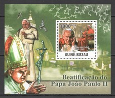 Y329 2011 GUINE GUINEA-BISSAU GREATEST HUMANISTS TRIBUTE TO POPE JOHN PAUL II 1BL MNH - Papes