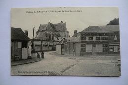 CPA 80 SOMME SAINT RIQUIER. Entrée De Saint Riquier Par La Rue Saint Jean. - Saint Riquier