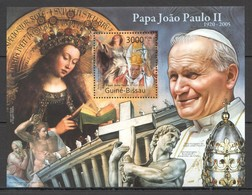 Y331 2011 GUINE GUINEA-BISSAU GREATEST HUMANISTS TRIBUTE TO POPE JOHN PAUL II 1BL MNH - Papes