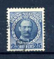 1907-08 ANTILLE N.40 USATO - Danimarca (Antille)