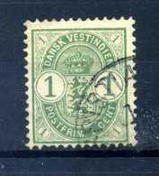 1900-03 ANTILLE N.16 USATO - Danimarca (Antille)