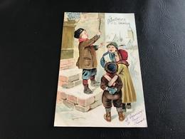 3523 - MEILLEURS VOEUX (enfants Chansons)  - 1904 Timbrée - Carte Gauffrée - Nouvel An