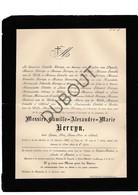 Doodsbrief Camille Kervyn °1810 Gent †1887 Sint-Michiels, Burgemeester Van Merendree / Château/kasteel De Leyseele (H8) - Décès