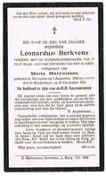 Merksplas, Borgerhout: 1921, Leonardus Berkvens ( 2 Scans) - Devotieprenten