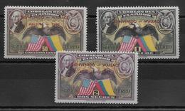 Equateur Poste Aérienne N°103A/103C - Neuf * Avec Charnière - TB - Equateur