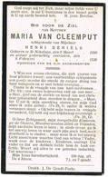 Sint-Niklaas: 1926, Maria Van Cleemput( 2 Scans) - Devotieprenten