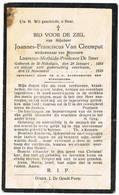 Sint-Niklaas: 1928, Joannes-Franciscus Van Cleemput Van Cleemput( 2 Scans) - Devotieprenten