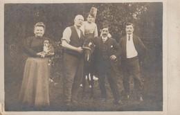 C P A - PHOTO - SOUVENIR DE TOUTE LA FAMILLE J. H. DENIS Y COMPRIS LES ANIMAUX - A DESTINATION DE VALENCE DROME - Photographs