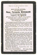 Gent: 1930, Rosa, Fernanda Rijckaert ( 2 Scans) - Devotieprenten
