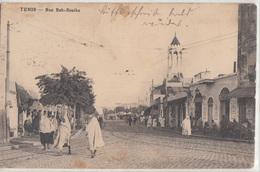 CPA- AFRIQUE TUNISIE- TUNIS Rue Bab-SouiKa- 1911- 2scans - Tunisie