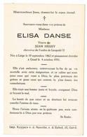 Liège, Gand: 1931, Elisa Danse ( 2 Scans) - Devotieprenten