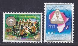 SENEGAL N°  436 & 437 ** MNH Neufs Sans Charnière, TB (D7859) Jamboree Du Scoutisme Africain - 1976 - Senegal (1960-...)