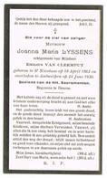 Antwerpen, Sint-Niklaas: 1930, Joanna Maria Lyssens( 2 Scans) - Devotieprenten