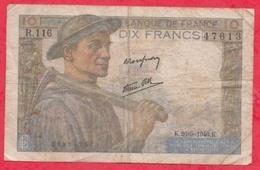 "10 Francs ""Mineur"" Du 26/09/1946.K----Série R.116----FR/TB - 10 F 1941-1949 ''Mineur''"